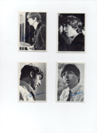 4x Cartes Photo Image Dédicacées THE BEATLES (9x6,5 Cm) - Reproductions