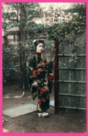 Japon - Japan - Geisha Dans Le Jardin - Colorisée - Sin Clasificación