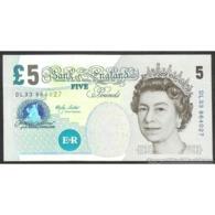 TWN - GREAT BRITAIN 391a - 5 Pounds 2002 (2002-03) Prefix DL33 - Signature: Lowther UNC - Altri – Europa
