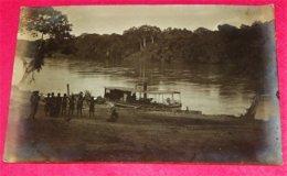 CONGO BELGE -  Photo  D'un Bateau Le Long Du Fleuve - Belgisch-Congo - Varia