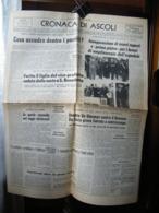 (G13) QUOTIDIANO (PAGINA) CRONACA DI ASCOLI IL MESSAGGERO 24 MAGGIO 1968 - AFRICANI ED EBREI NELL'IMPERO FASCISTA - Revues & Journaux