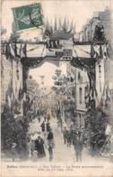 BOLBEC - Rue Thiers - La Porte Monumentale - Fête Du 10 Juin 1906 - Bolbec