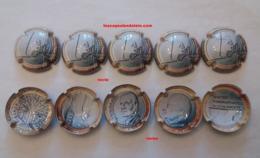5 BELLES CAPSULES CHAMPAGNE GENERIQUE 20 ANS DE L'EURO RECTO VERSO NEWS - Sammlungen