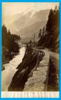 Chamonix 1875 * Les Houches, Pont Sur L'Arve * Photo Albumine Garcin * Voir Scans - Photographs