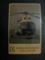 USSR Soviet Russia  Pocket Calendar Aviaexport Helicopter 1969 Rare - Calendriers