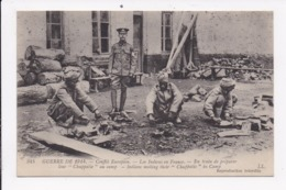 CP MILITARIA Les Indoux En France En Trai De Preparer Leur Chuppatie Au Camp - War 1914-18