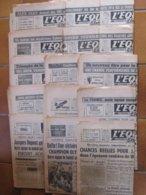 Jeux Olympiques De 1948. 16 Numéros Du Journal L'EQUIPE Couvrant Les JO De Londres Du 30 Juillet Au 16 Août 1948. B état - Newspapers