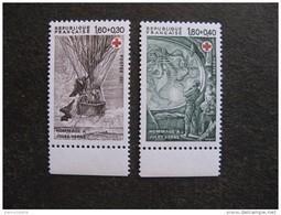 TB Paire N° 2247a Et N° 2248a, Timbres De Carnets, Neufs XX. - France