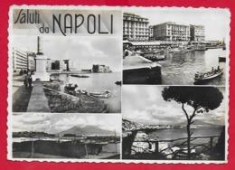 CARTOLINA VG ITALIA - Saluti Da NAPOLI - Vedutine Multivue - 10 X 15 - 1941 FRATELLANZA D'ARMI 2 X 10 C - Saluti Da.../ Gruss Aus...