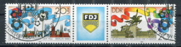DDR Michel-Nr. 3248-3249 Dreierstreifen Gestempelt - Usati