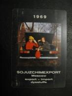 USSR Soviet Russia  Pocket Calendar Soyuzkhimexport 1969 Rare - Calendars