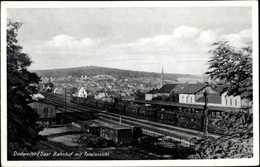 Cp Dudweiler Saarbrücken Im Saarland, Bahnhof Mit Totalansicht, Eisenbahn - Sonstige