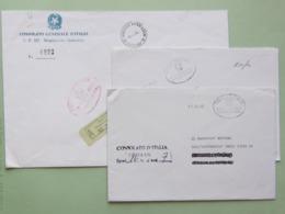 Franchigia Ministero Affari Esteri, Buste Da Consolati Somalia E Iran, Guller Del M.A.E., Roma 85 - 6. 1946-.. Repubblica