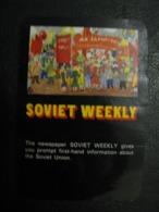 USSR Soviet Russia  Pocket Calendar Soviet Weekly 1979 - Calendars