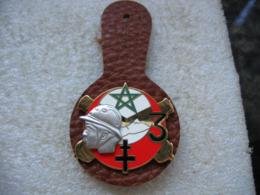 Brodche Insigne Militaire Avec Son Cuir à Définir - Army