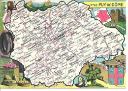 CARTE GEOGRAPHIQUE - Département Du PUY DE DOME - Par PINCHON - Landkarten