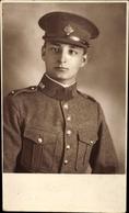 Photo Cp Soldat, Portrait, Uniform, Kragenspiegel 110, Schimmütze - Militaria