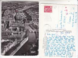 SP- 75 - PARIS - Vue Aerienne - Rive Gauche Ile De La Cite Notre Dame - Timbre - Cachet - 1953 - Frankreich