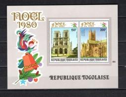 TOGO BLOC N° 145  NEUF SANS CHARNIERE COTE  5.00€  NOEL  MONUMENT - Togo (1960-...)