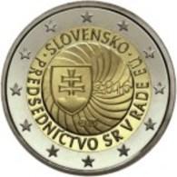 Eslováquia 2euro Cc - Primera Presidencia De La República Eslovaca, Del Consejo De La Unión Europea - 2016 UNC - Slowakije