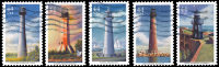 Etats-Unis / United States (Scott No.4409-13 - Lighthouses) (o) Set Of Five - Etats-Unis