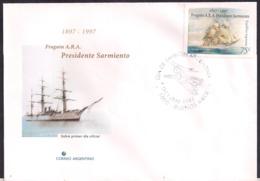 Argentina - 1997 - FDC - Centenaire De La Frégate A.R.A. Presidente Sarmiento - Grands Voiliers - FDC