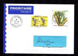976 MAYOTTE 2011 Lettre Au Tarif 0,58 Euro Epiphyte Et 2 X Carte Ile CHIRONGUI 23-6-2011 TTB 2 Scan - Lettres & Documents