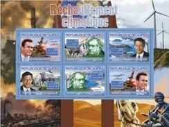 GUINEA 2007 SHEET GLOBAL WARMING RECHAUFFEMENT CLIMATIQUE SCHWARZENEGGER AL GORE WILLIAM GROVE Gu07118 - República De Guinea (1958-...)