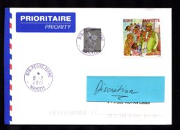 976 MAYOTTE 2011 Lettre Au Tarif 0,58 Euro  Composé PETITE TERRE 8-2-2011 TTB 2 Scan - Lettres & Documents