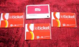 4 Billets Titres Transport Cartes D'un Jour Ticket 2 Voyage A.R Pr Tramway-Metro-Bus-Navette Bateau Estaque-SNCF Europe - Europe
