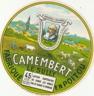 Rare étiquette De Fromage Camembert Le Sully - Käse
