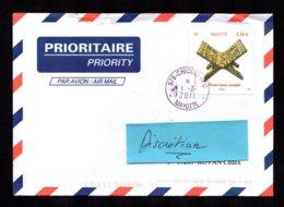 976 MAYOTTE 2011 Lettre Au Tarif 0,58 Euro Porte-livre  CHICONI-APC  TTB 2 Scan - Lettres & Documents