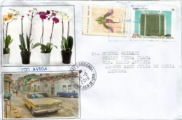 Old American Car On Letter Ministerio De Las Fuerzas Armadas Revolucionarias, Sent To Andorra,with Arrival Postmark - Cuba