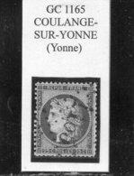 Yonne - N° 60C Obl GC 1165 Coulange-sur-Yonne - 1871-1875 Cérès