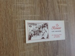 Ancienne Carte De Visite De Brasserie Restaurant  Le Renoir   Paris 13eme - Cartoncini Da Visita