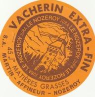 Rare étiquette De Fromage Vacherin Extra-fin - Formaggio
