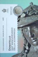 0696 - COFFRET BU SAINT MARIN - 2016 - 2 Euros Commémo. 550e Anniversaire De La Mort De Donatello - San Marino
