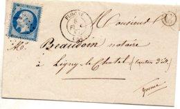 Yonne - LSC Affr N° 22 Obl GC 1527 - Càd Type 15 Flogny - Marcophilie (Lettres)