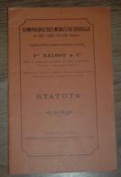 Statuts Mine Compagnie Des Mines De SAINT COME ESPALION Aveyron 1902 - Documents Historiques