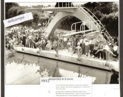Inauguration De La Piscine De La Ferté - Alais  Le 15 Juin 1952 -  Club  Fertois - Reproductions