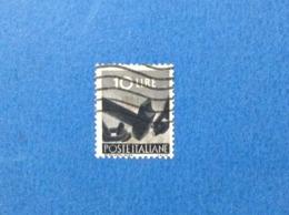 1945 ITALIA FRANCOBOLLO USATO STAMP USED DEMOCRATICA 10 LIRE - 6. 1946-.. Repubblica