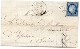 Yonne - LAC Affr N° 60C Obl GC 1527 - Càd Type 18 Flogny (Rare à L'époque Des Gros Chiffres) - Marcophilie (Lettres)