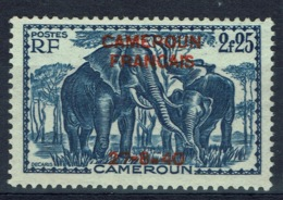 French Cameroon, 2f.25 Overprint CAMEROUN FRANCAIS, 27.8.40, Elephant, 1940, MNG VF - Unused Stamps