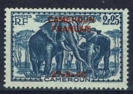 French Cameroon, 2f.25 Overprint CAMEROUN FRANCAIS, 27.8.40, Elephant, 1940, MNG VF - Camerun (1915-1959)