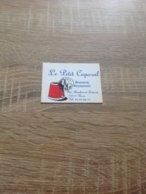 Ancienne Carte De Visire De Brasserie Restaurant  Petit Caporal   Paris  12eme - Cartoncini Da Visita