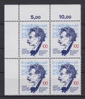 Bund 1736 4er Block Eckrand Links Oben Hans Pfitzner 100 Pf Postfrisch - BRD
