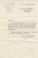 L. Devilliers , Notaire à Mirecourt , Vosges ,courrier De 1944 - France