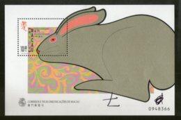Macau 1999 Chinese New Year Of Rat Animal Sc 968 M/s MNH # 13514 - Chinese New Year
