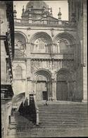 Cp Santiago De Compostela Galicien Spanien, La Basilica, Puerta De Las Platerias - Spanje