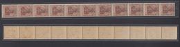 Dt. Reich 140 A  11er Streifen Germania 5 Pf Ungefaltet Postfrisch - Germania